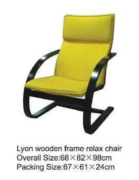 Lyon wooden frame relax chair
