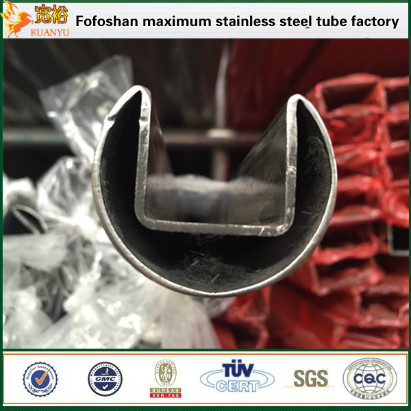 FOSHAN biggest pipe 316 ss slot pipe stainless steel square tubes price