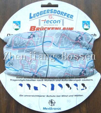 High elastic polyester multifunctional bandana neck tube scarf