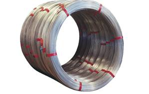 Oval shaped galvanized steel wire