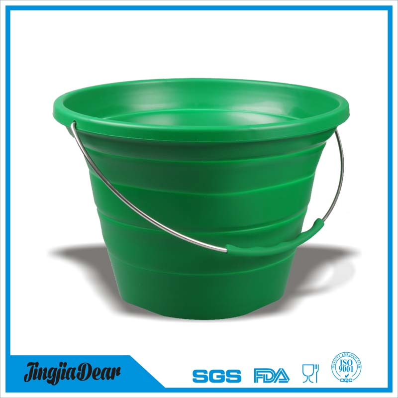 Silicon Folding Pail Collapsible Water Bucket