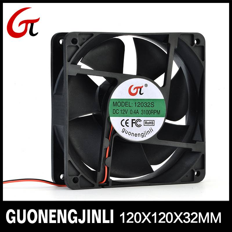 Manufacture selling 12V 12025 dc cooling fan with large air flow for cabinet