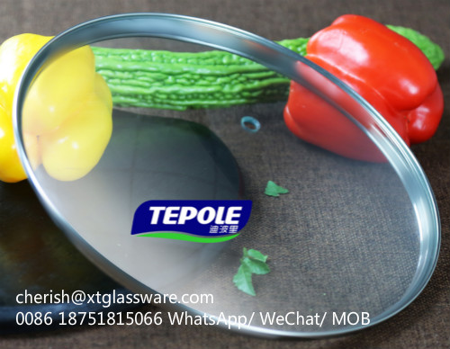 FDA Glass Lid LFGB Glass Lid Tempered Glass Lid Pot Lid Pan Lid