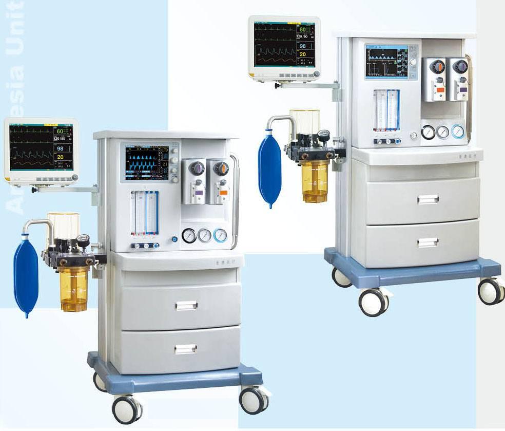anesthesia machine, multiparameter monitor, ventilator