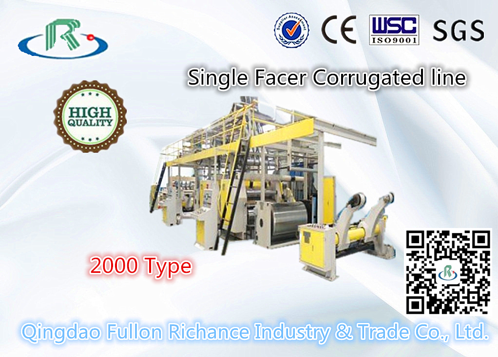 2000W Single-Face Corrugated Paperboard Making Machine