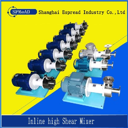 Inline high shear mixer single stage