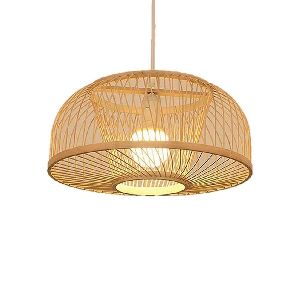 Interior Decor Ceiling Light Bamboo Rattan Jute Lamp Shade Vintage Style