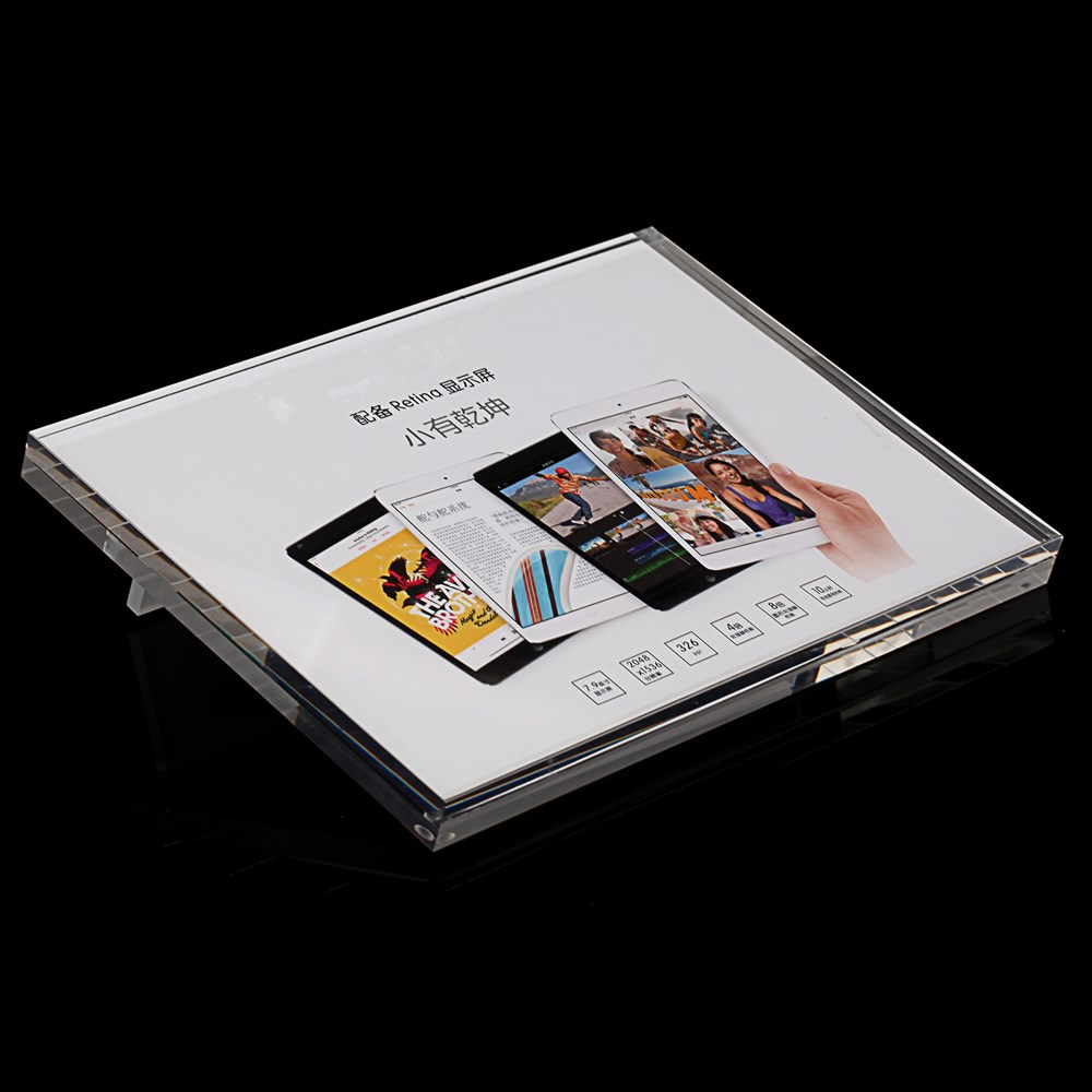 Shenzhen manufacturer retail good quality A4 paper beveled acrylic price tag display holder