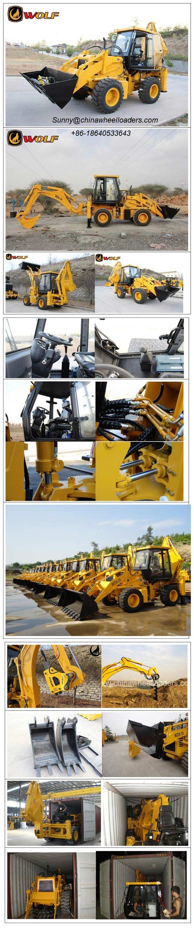 wheel loader spare parts, other any loader attachments is also available