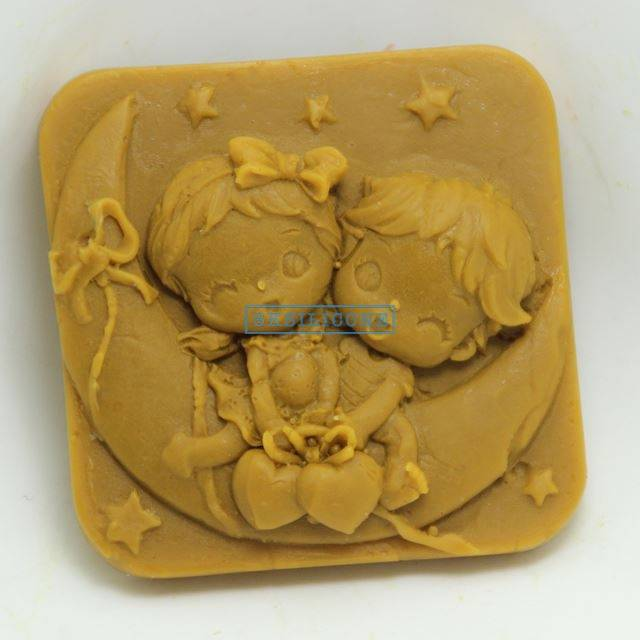Moon Lovers Baby Cake Mold Craft Art Silicone Soap mold Craft Molds DIY AB023