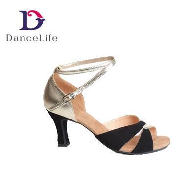 S5530 Wholesale DanceLife Ladies PU Ballroom Latin Dance Shoes for Women Guangzhou China