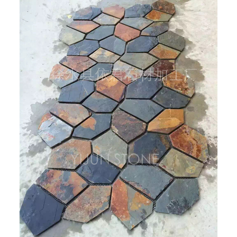 YIJUN STONE/ natural rusty stone/road stone