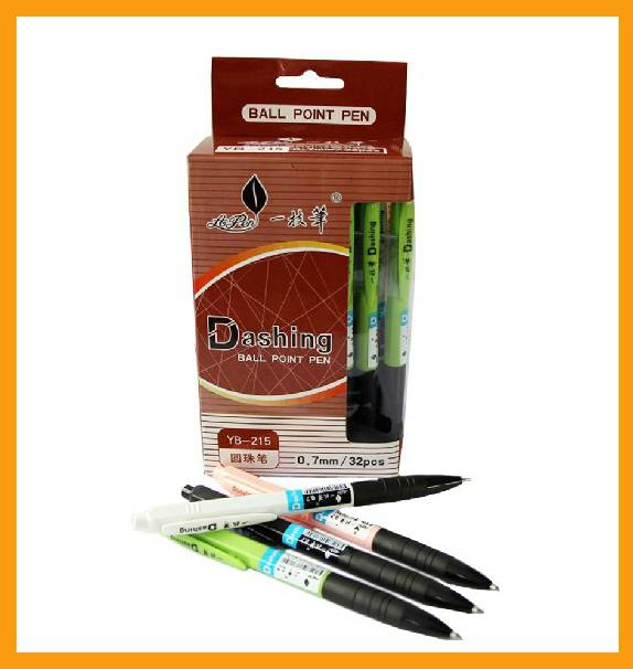 Promotional plastic advertising ball point pen with logo