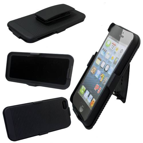 mobile phone case combo case for iphone 5 with holster