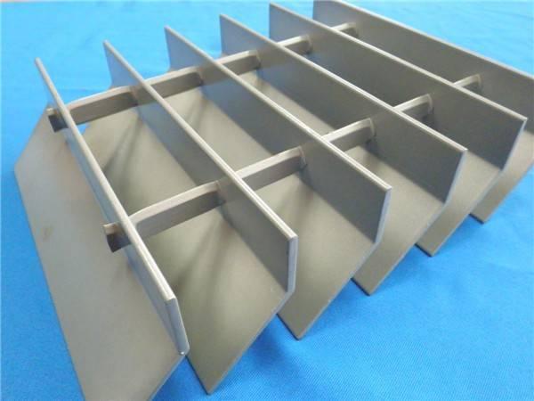 swaged aluminum sunshade louvers