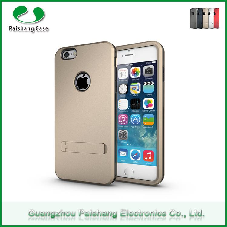 Wholesale phone cases TPU+PC 3 in 1 Armor case with kickstand cell phone back covers for Apple iPhon