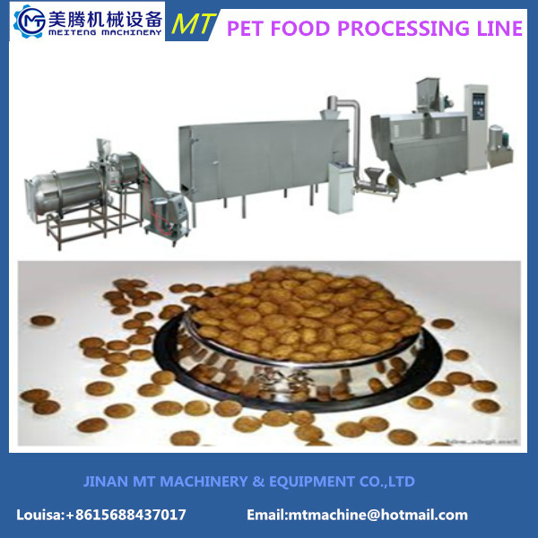 2017 dry pet food making machine dog food processing equipment