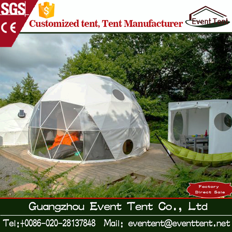 Customized durable geodesic dome tent with air condition