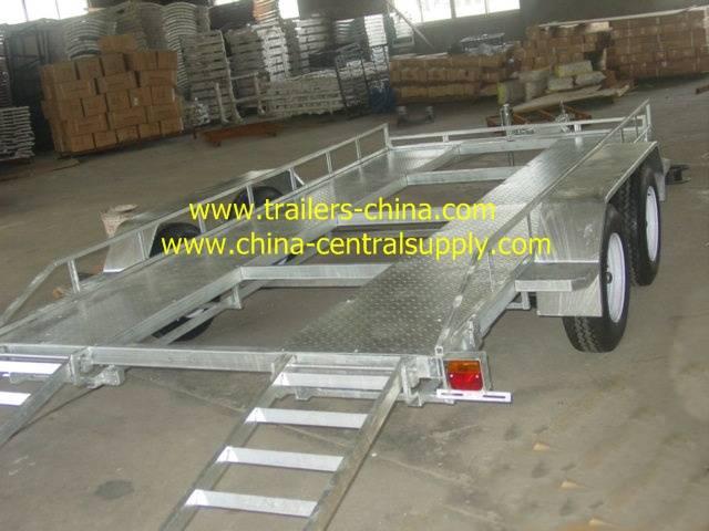 Fully hot dip galvanised car carrier trailer