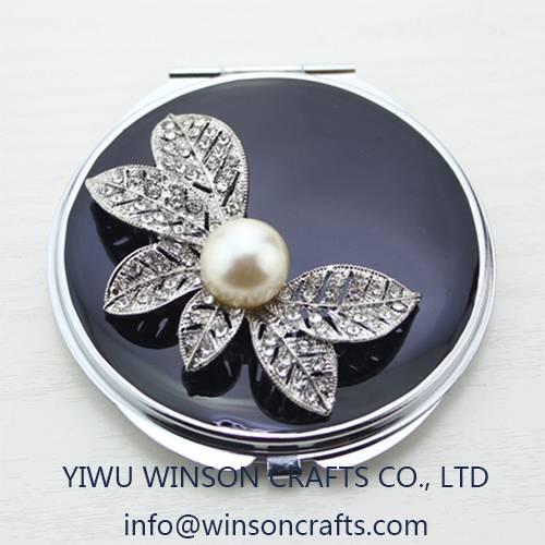 Wedding favor gifts folding makeup mirror metal pocket mirror