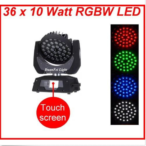 Big touch screen 36x10w led moving head rgbw with zoom