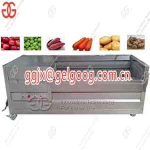 Vegetable Fruit Washing And Peeling Machine On Sale Brush type washing machine