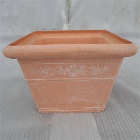 Sculptured Square Flower Pot/ Planter/ Garden pot/ Plant pot