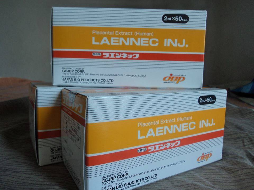 Japanese laennec placenta injection