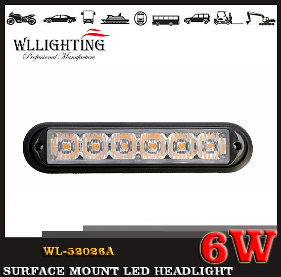 6 TIR LED Grille and Surface Mount Light