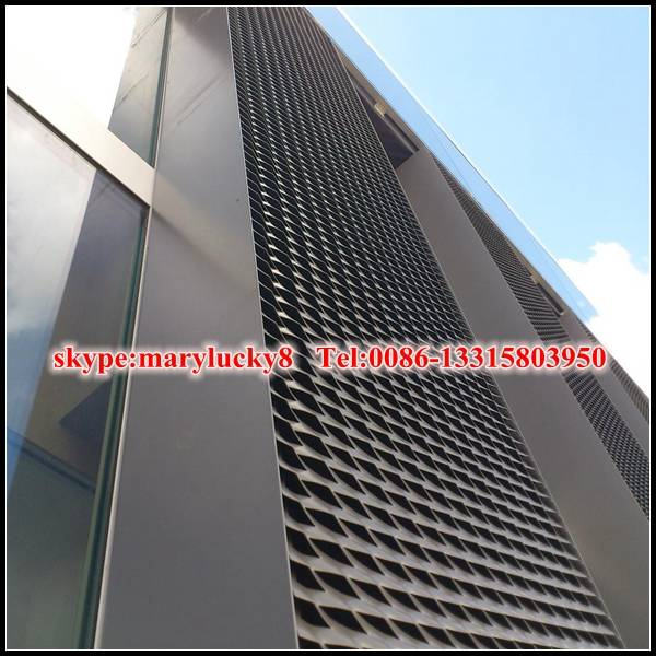 Architectural Aluminum expanded metal Facade mesh