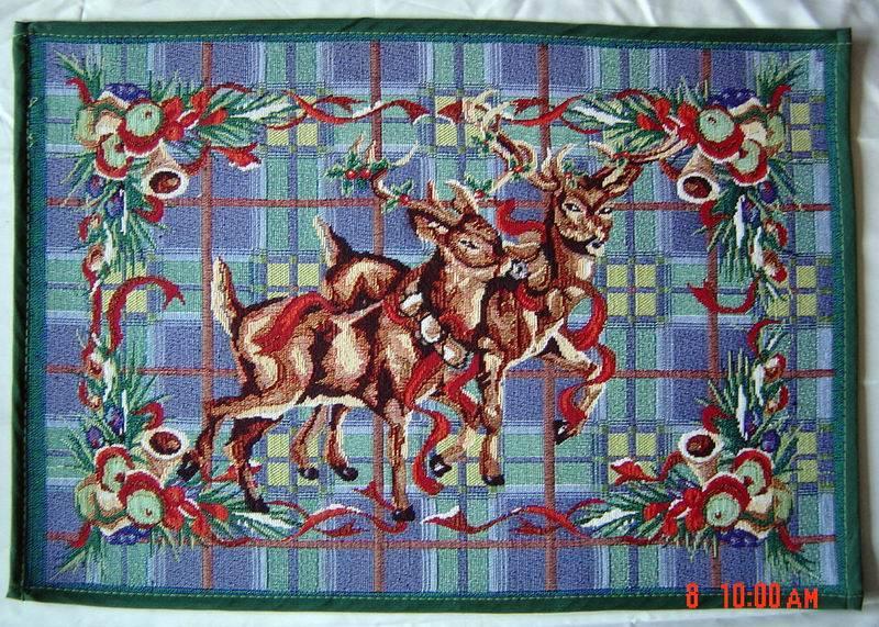 jacquard christmas door mat
