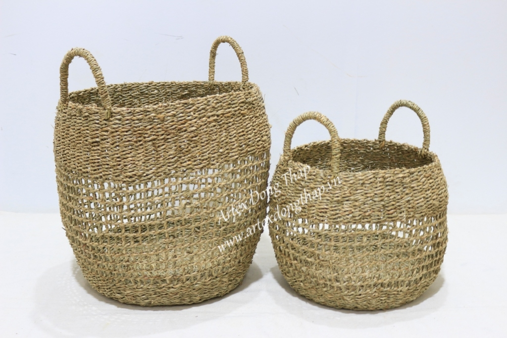 Hot sale seagrass storage baskets, planting basket-BH4313A-2NA