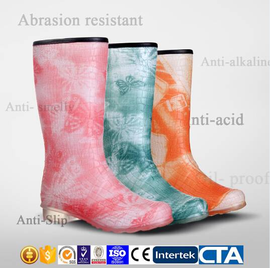 JX-995 Fashion PVC Rain Boots women