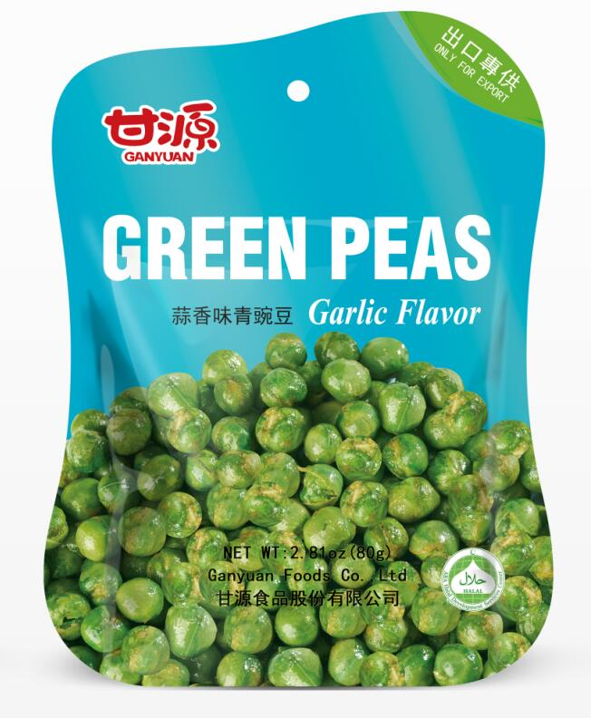 Wholesale Green peas Garlic flavor snack foods