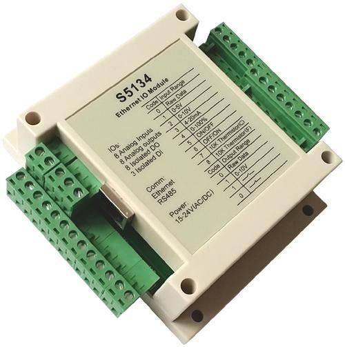 8-ch universal analog input,8-ch 0-10V analog output,8-ch isolated digital output,MODBUS TCPIP,S5134