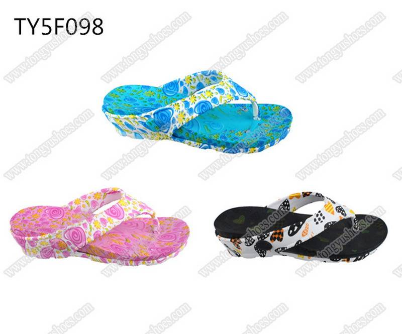 jinjiang quality fashion sexy printing women's beach thong sandals