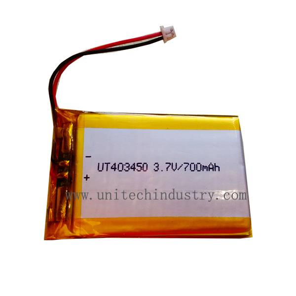 Li-Polymer Battery Pack UT403450 700mAh lipo battery