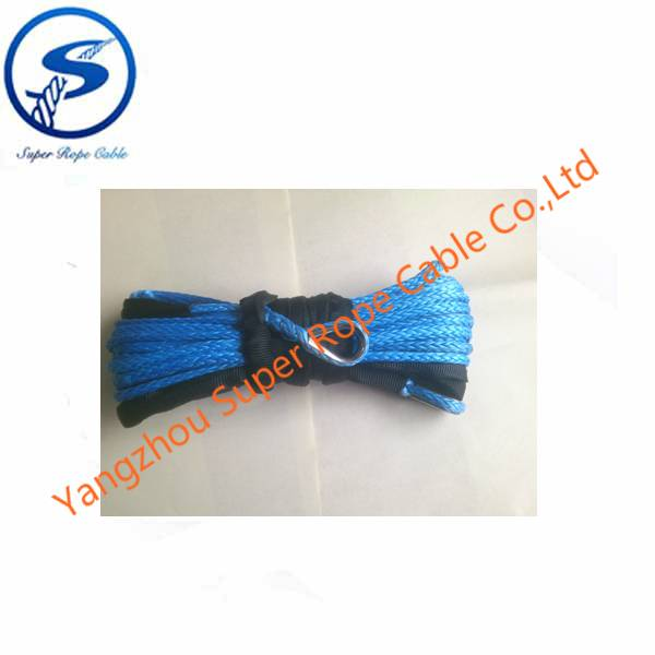 4x4 winch rope,12 strand UHMWPE towing rope,sythetic rope for winch, UHMWPE fiber for 12000lbs winch