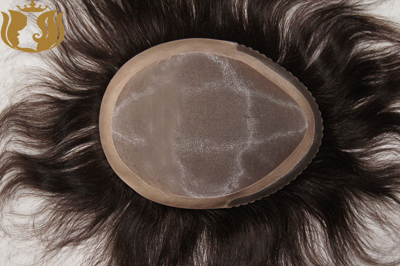 Factory Selling Monofilament Human Hair Toupee for men