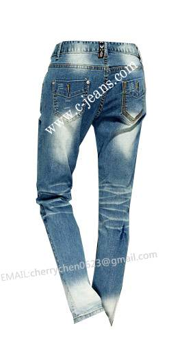Lady's Newest Fashion Straight Jeans for All Seasons