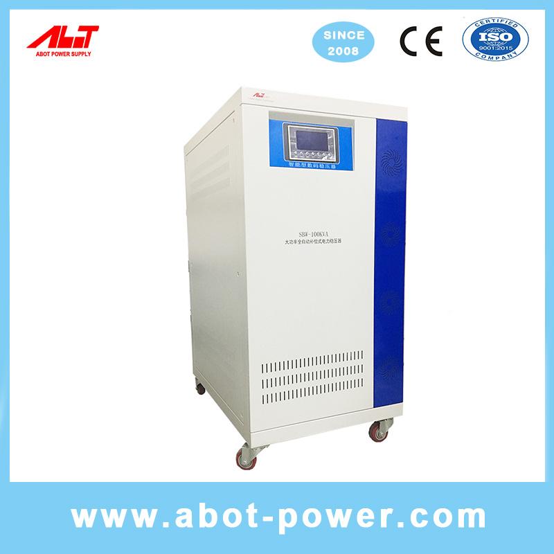ABOT 3 Phase Copper Roller Type Servo 120KVA SBW AVR Voltage Regulator