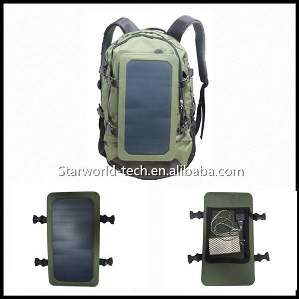Hot Sale Solar Hiking Backpack Solar Power charger with 10000mAh