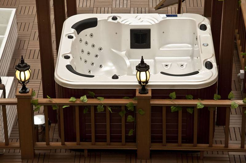 Massage Function and Corner Installation Type whirlpool bathtub