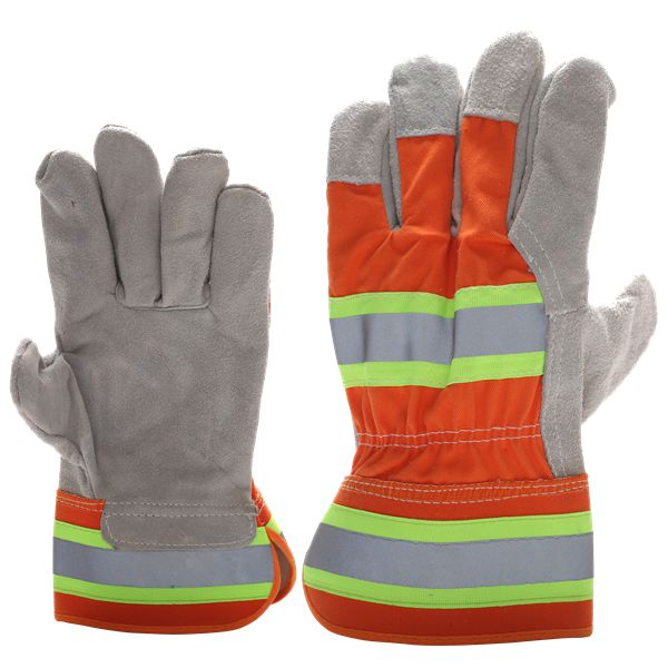 Best Selling China Manufacturer Leather Reflective Gloves traffic