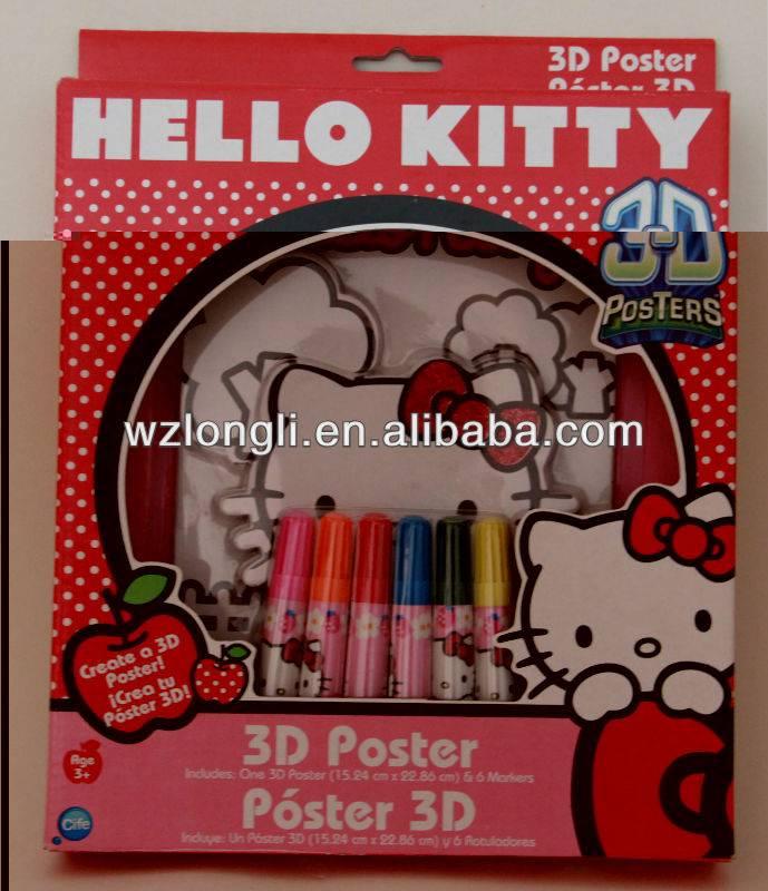 kids coloring poster set / stationery set