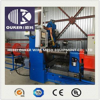 Oil pipe wedge wire screen welding machine