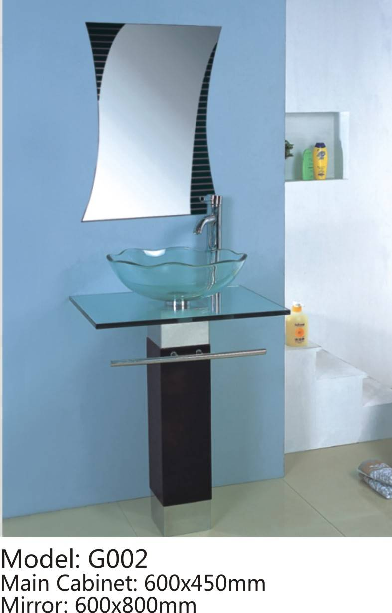 GLASS BATHROOM CABINET G002