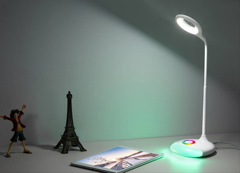 LED Table Lamp With RGB Color Base