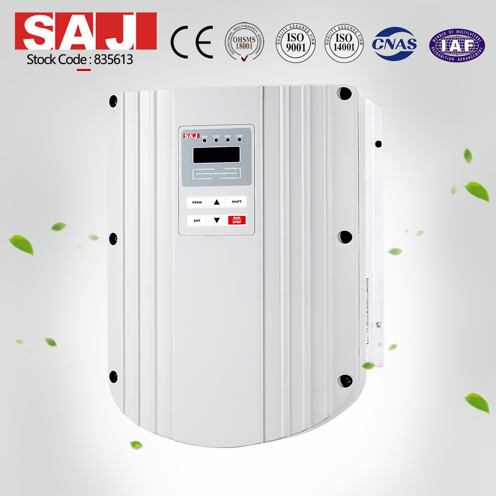 IP65 SAJ featured product solar pump inverter 5.5kw 7.5HP for borehole wate pump in desert village w