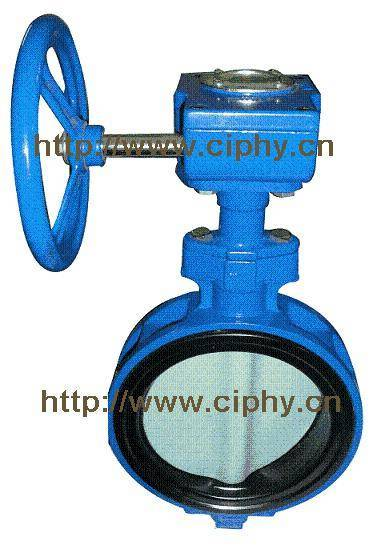 CAST IRON WAFER TYPE BUTTERFLY VALVE, PN10, HANDLE